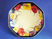 Royal Doulton 'Pansies' Series Large Octagon Bowl D4049 c1933 #2